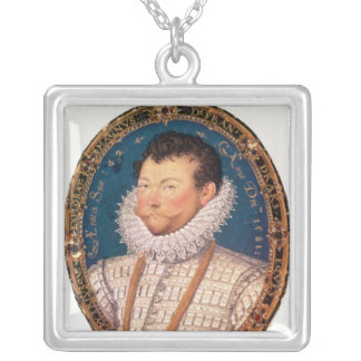 Sir Francis Drake, 1581 Silver Plated Necklace