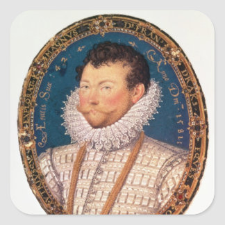 Sir Francis Drake, 1581 Square Sticker