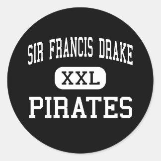 Sir Francis Drake - Pirates - High - San Anselmo Round Sticker