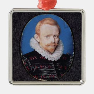 Sir Francis Drake Silver-Colored Square Decoration