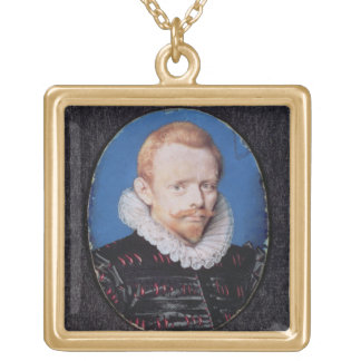 Sir Francis Drake Square Pendant Necklace