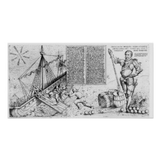 Sir Francis Drake Watches the Loading of Ship Poster