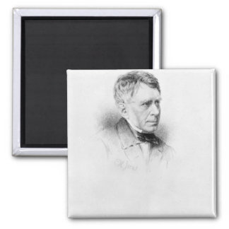 Sir George Biddell Airy, engraved by C.H. Jeens Square Magnet