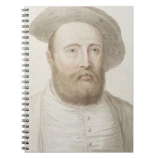 Sir George Carew (b.c.1514) engraved by Francesco Notebook