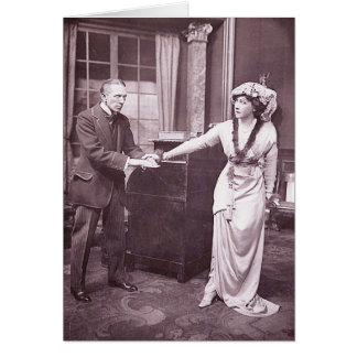 Sir Gerald du Maurier & Miss Ellis Jeffreys Greeting Card