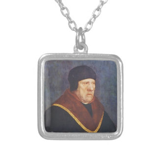 Sir Henry Wyatt  by Hans Holbein the Younger Silver Plated Necklace
