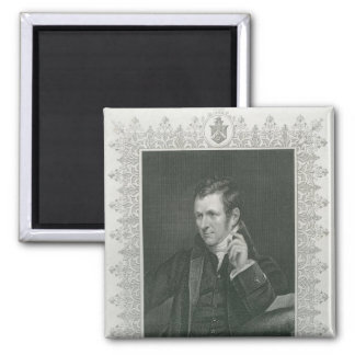 Sir Humphry Davy Square Magnet