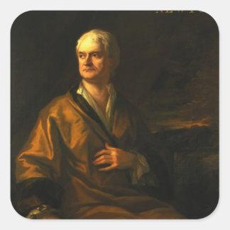 Sir Isaac Newton, 1710 Square Sticker