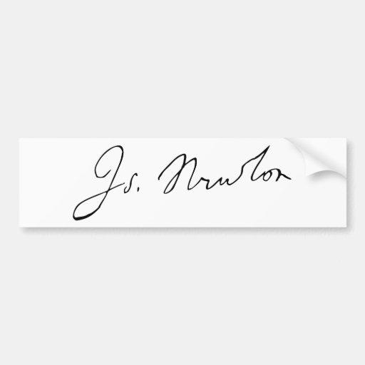 Sir Isaac Newton Signature Autograph Bumper Stickers