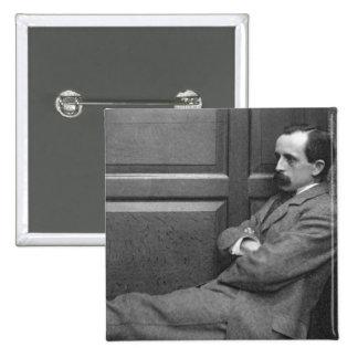 Sir James Matthew Barrie (1860-1937) (b/w photo) 15 Cm Square Badge