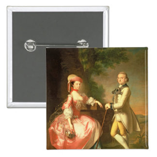 Sir John Pole, 5th Baronet 15 Cm Square Badge