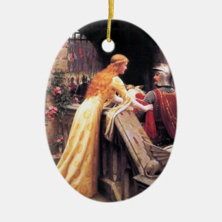 Sir Lancelot and Guinevere on the Stairs Christmas Ornament
