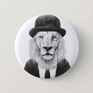 Sir lion 6 cm round badge