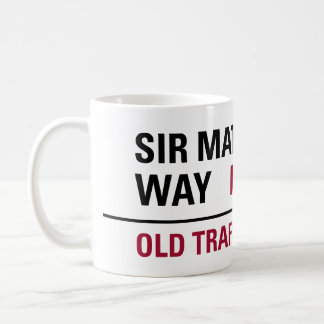 Sir Matt Busby Way English Street Sign Basic White Mug