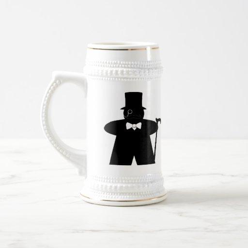 Sir Meeple dapper gamer stein Coffee Mug