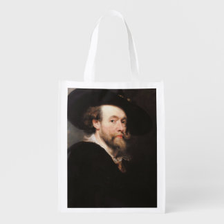 Sir Peter Paul Rubens - Portrait of the Artist Reusable Grocery Bag