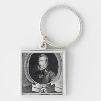 Sir Philip Sidney Silver-Colored Square Key Ring