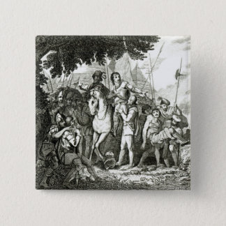 Sir Philip Sidney's Kindness to a Soldier, 1815 15 Cm Square Badge