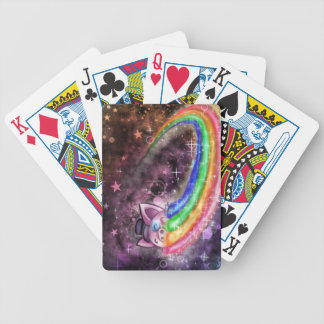 Sir Piggy in SPACE! (Riding on a Rainbow) Bicycle Playing Cards