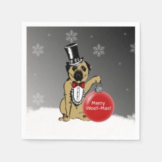 Sir Pug Dog Paper Napkin