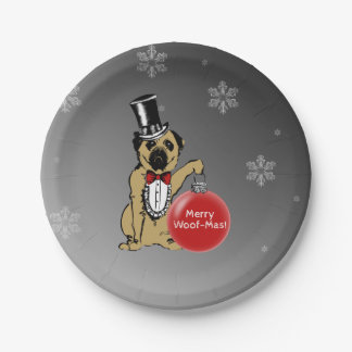 Sir Pug Dog Paper Plate