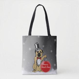 Sir Pug Dog shows your Christmas wishes! Tote Bag