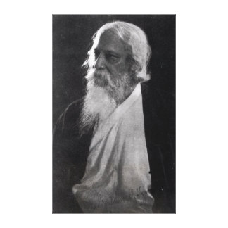 Sir Rabindranath Tagore Stretched Canvas Print