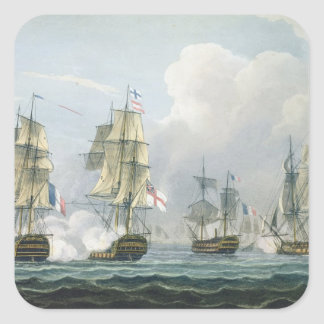 Sir Richard Strachan's Action after the Battle of Square Sticker