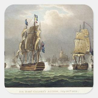 Sir Robert Calder's Action, July 22nd 1805, engrav Stickers
