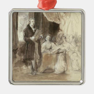 Sir Robert Peel Reading to Queen Victoria Christmas Ornament