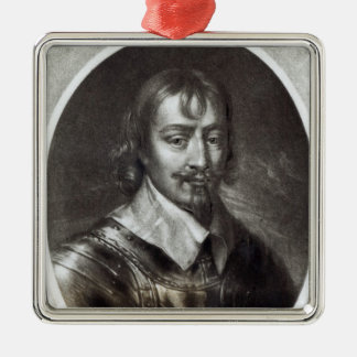Sir Robert Rich  2nd Earl of Warwick Silver-Colored Square Decoration