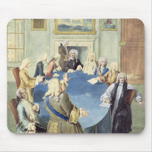Sir Robert Walpole addressing his cabinet Mousepad