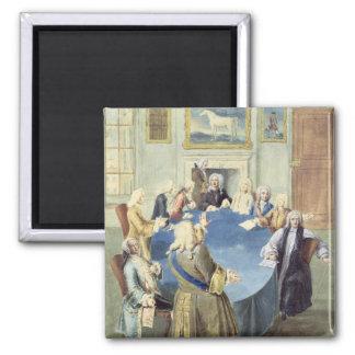 Sir Robert Walpole addressing his cabinet Square Magnet