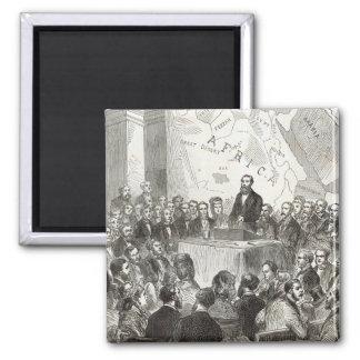 Sir Samuel Baker Square Magnet