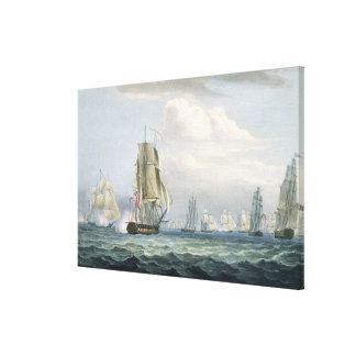 Sir Sidney Smith s 1764-1840 Squadron engaging a Canvas Prints