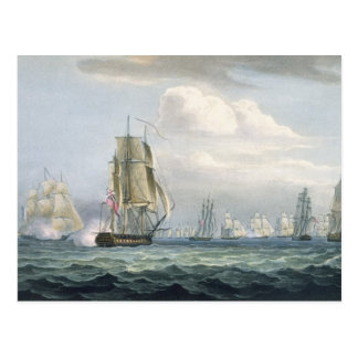 Sir Sidney Smith's (1764-1840) Squadron engaging a Postcard