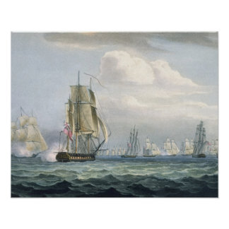 Sir Sidney Smith's (1764-1840) Squadron engaging a Poster