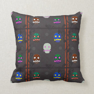 Sir Skull Dark Throw Pillow