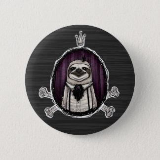 _sir slothington 6 cm round badge