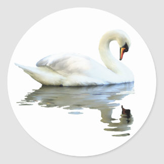 Sir Swan Classic Round Sticker