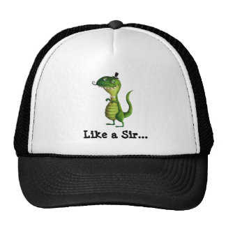 Sir T-rex with Moustaches Cap