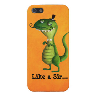 Sir T-rex with Moustaches iPhone 5 Cases