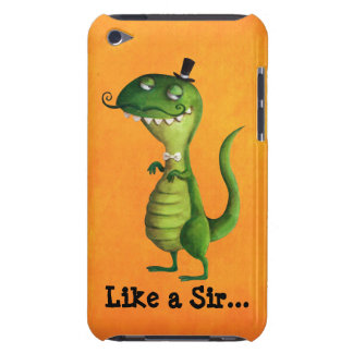 Sir T-rex with Moustaches iPod Touch Case