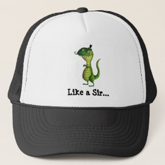 Sir T-rex with Moustaches Trucker Hat