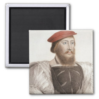 Sir Thomas Boleyn (1477-1539) engraved by Francesc Square Magnet