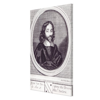 Sir Thomas Browne , engraved by Frederick Canvas Print