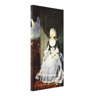 Sir Thomas Lawrence - Queen Charlotte(portrait) Gallery Wrapped Canvas