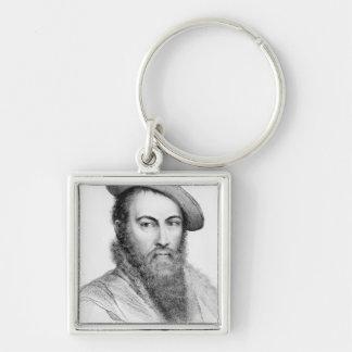 Sir Thomas Wyatt Silver-Colored Square Key Ring