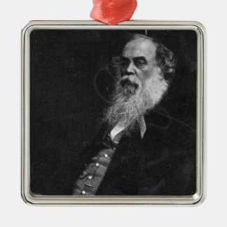 Sir Titus Salt, engraved by William Holl Silver-Colored Square Decoration