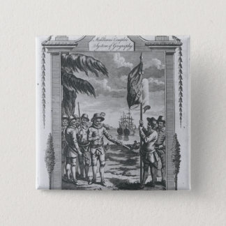 Sir Walter Raleigh 15 Cm Square Badge